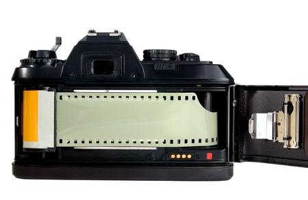 technolgy: Old style film camera before digital technolgy Stock Photo