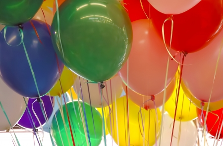 kids birthday party: Bunch of balloons for birthday party