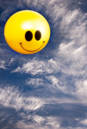 Smiling Sun in sky for a Good Day Stock Photo