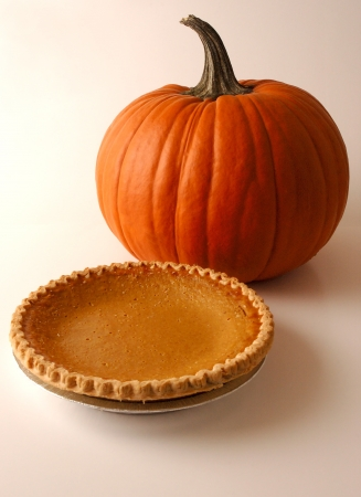 Pumpkin and Pie Stock Photo - 15854720