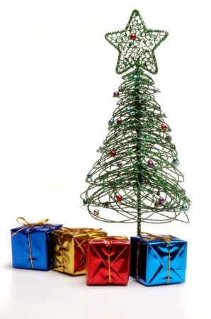 highkey: Christmas Wrapped Gifts under Tree