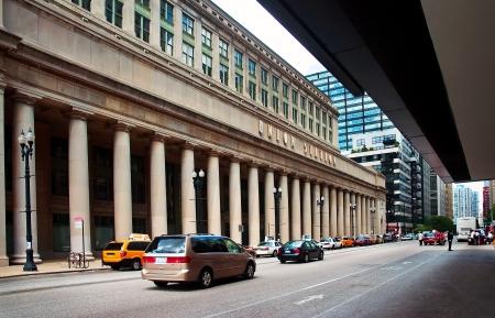 estacion de tren: Los taxis en la estaci�n de tren Union Editorial