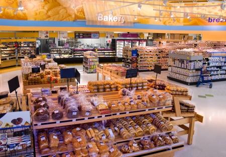 食料品店のディスプレイ ラック 報道画像