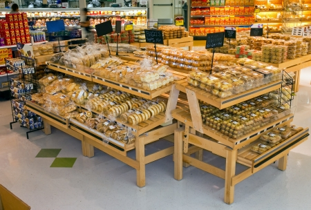 식료품 진열대 에디토리얼