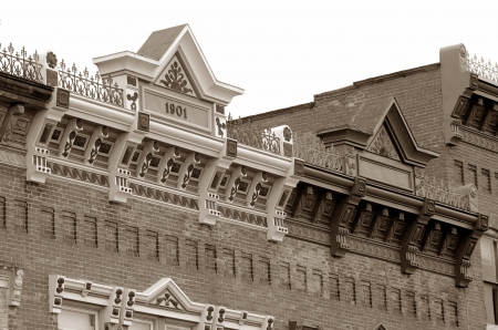 real esate: Sepia Toned Classic Architecture Detail
