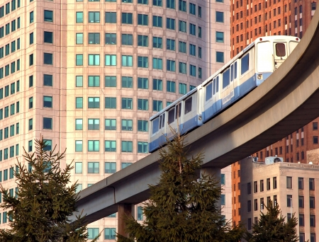 Monorail Commuter Train Detroit