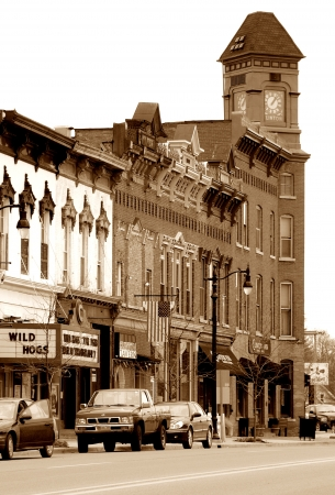 real esate: Small Town Business District Toned Editorial