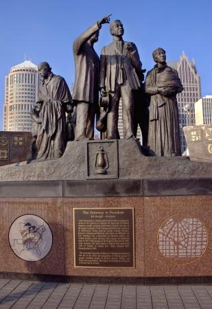 Detroit Underground Railroad Monument Editorial