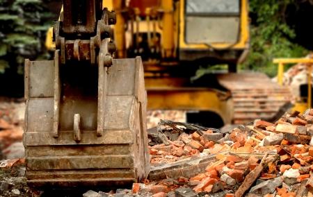 back hoe: Demolition Back Hoe Crane Stock Photo
