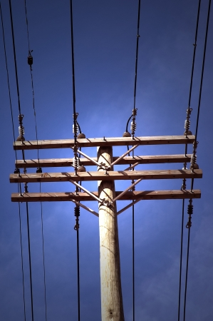 Electric Service Lines Pole