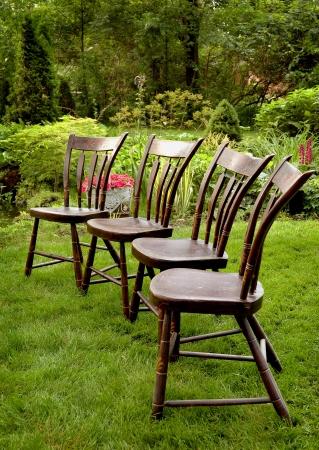 Antique Yard Seating Stock Photo