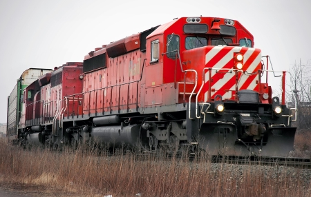 freight train: Red Freight Train Locomotive Editorial