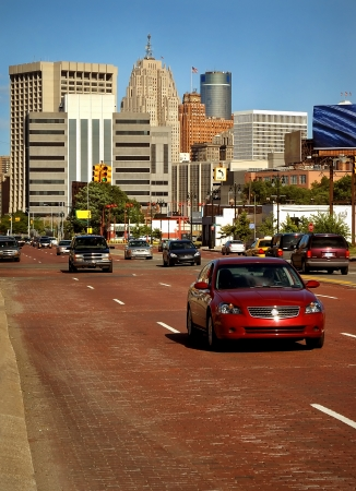Downtown Detroit Traffic