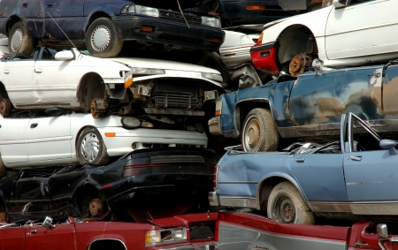 Scrap Cars to be Recycled photo
