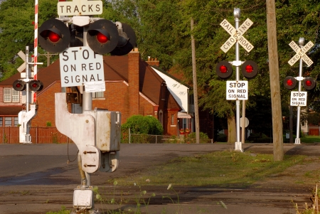 railroad crossing: Multi Track Railroad Crossing