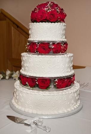 pastel de bodas: Pastel de boda Flowered