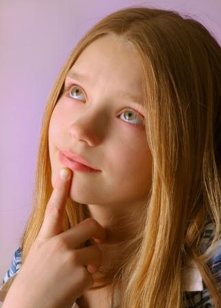 Little Girl Thinker Stock Photo - 15933729