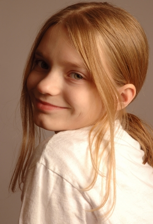 Pre-Teen Girl Portrait photo