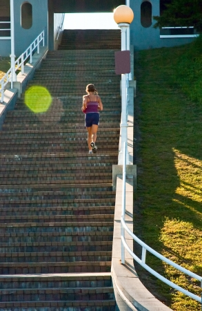 stair well: Stair Climbing Fitness Female