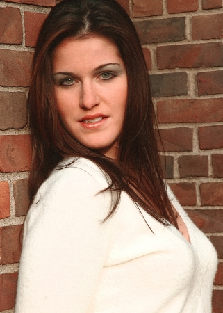 Outdoor Brunette Beauty Portrait Banco de Imagens