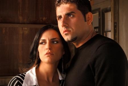 Italian Couple Portait Banco de Imagens