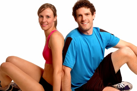 Girl Training with a Male Partner Stock Photo