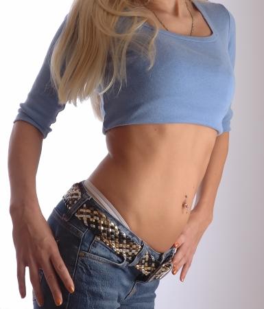 jeans apretados: Gimnasio Torso Azul Fashion