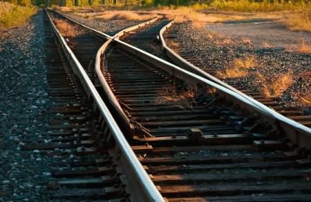 Mainline Railroad Track Switch Stock Photo - 15949968