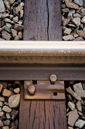 mainline: Railroad Track and Tie Close-up