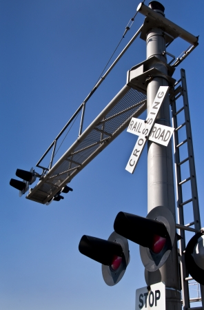 Overhead Rail Crossing Signal photo