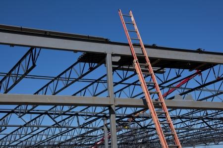 steel: Steel Construction Frame and Ladder