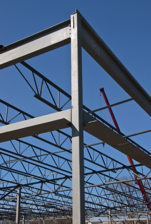 Steel Construction Girders Stock Photo