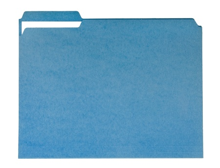 Blue File Folder Stock Photo