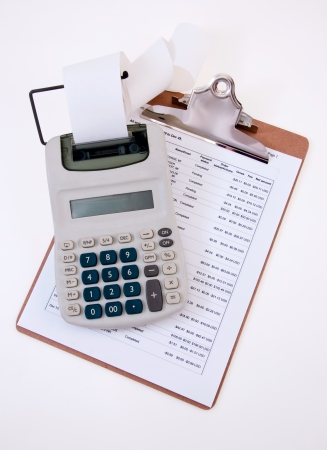 Calculating Expenses Stock Photo
