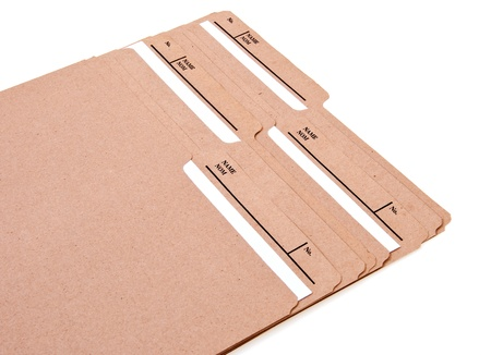 Manilla File Folders with Labels
