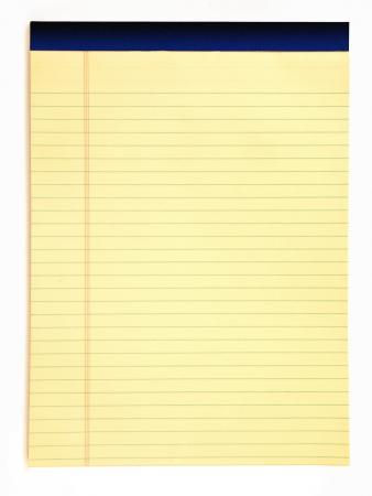黄色の法的メモ帳 写真素材