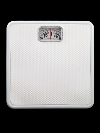 White Bath Scale on Black Фото со стока