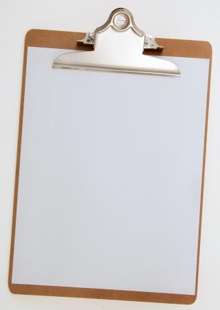 クリップボードに空白の紙 写真素材