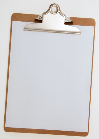 questionnaire: Blank Paper on Clipboard