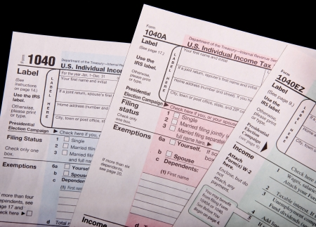 Income Tax Forms photo