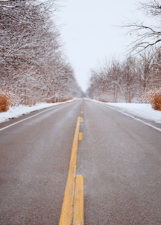 drive safely: Drive safely in winter snowy streets