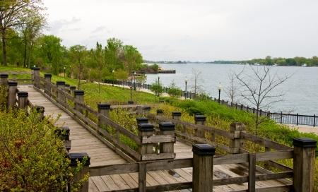 riverfront: Michigan park along the detroit river