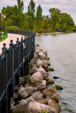 Michigan park along the detroit river