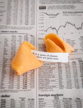 Fortune cookie met goed nieuws bericht