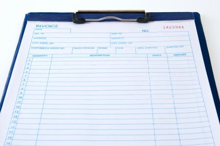 blank invoice order form for salesmen Imagens