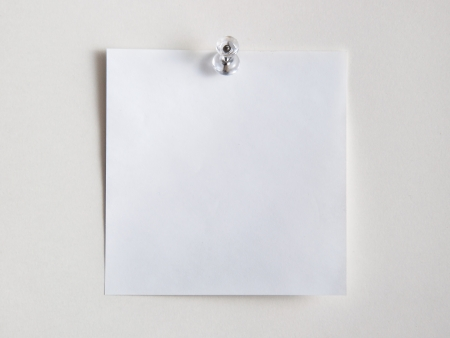 Note papers,for pinning to cork board Stock Photo - 22333272