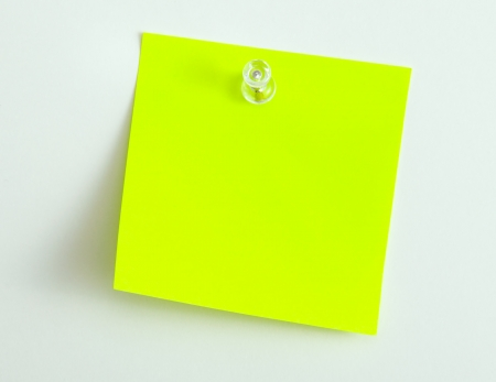paper pin: Note papers,for pinning to cork board Stock Photo