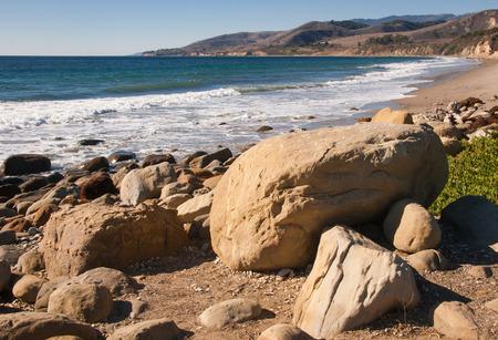 el capitan: Rocky Calif coastline near El Capitan