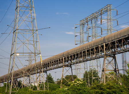 erected: Erected power line structure for high voltage wires