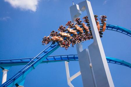 amusment: Skyward thrill rides at midwest amusment park, ohio